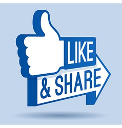 Like and Share Thumbs Up vector image vector image
