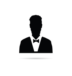 man silhouette vector image vector image