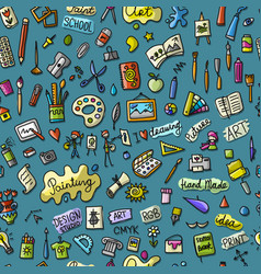 school of drawing seamless pattern for your vector image