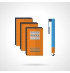 Writing flat color icon vector image