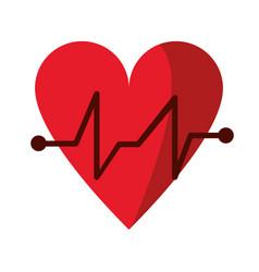 heart beat pulse cardiac medical icon vector image vector image