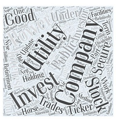 Investing in utilities word cloud concept vector