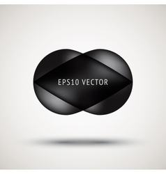Luxury black bubble badge vector image