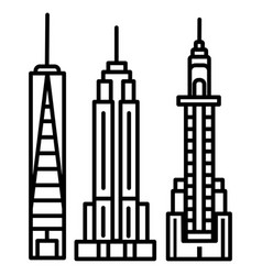 new york skyline line icon sign vector image vector image