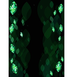 Abstract Background With Emeralds vector image