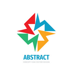 abstract concept logo social media sign business vector image