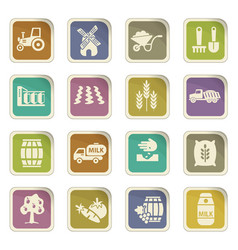 Agriculture icon set vector