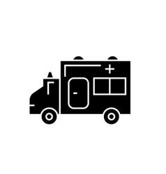ambulance black concept icon ambulance vector image
