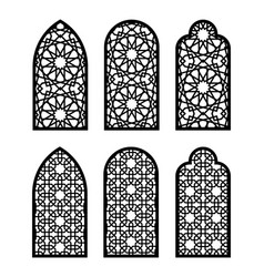 Arch window set vector