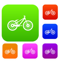 bike set collection vector image