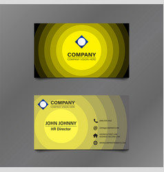 Black and yellow stack circle business card vector