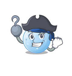 Blue moon as a pirate with hook hand and a hat vector