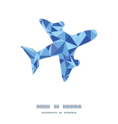 Blue triangle texture airplane silhouette pattern vector