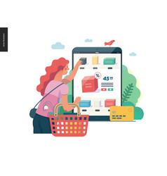 Business series - buy online shop web template vector