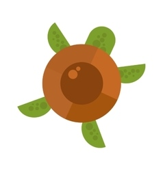 cartoon turtle vector image