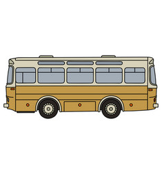 Classic yellow bus vector