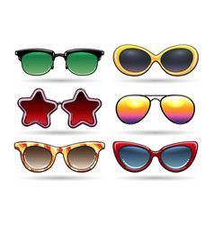 Colored sunglasses with reflection vector