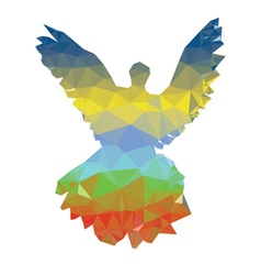 Colorful Polygonal Pigeon2 vector