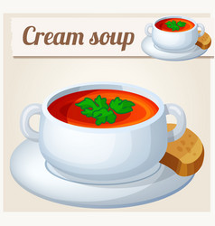 cream soup detailed icon vector image