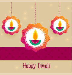 Creative diwali festival greeting background vector
