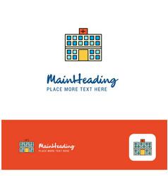 creative hospital logo design flat color logo vector image