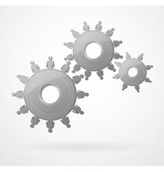 creative team mechanism vector image