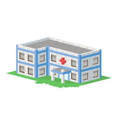 cute colorful flat style hospital house village vector image vector image