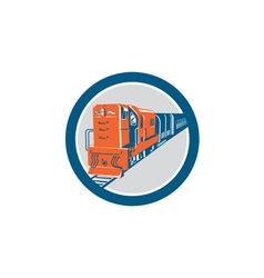 Diesel Train Circle Retro vector