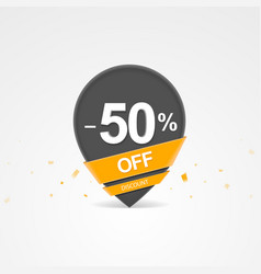 Discount percent pointer icon vector