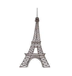 eiffel tower sight of paris vector image