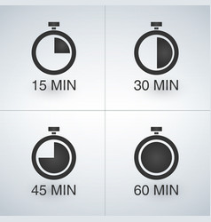 every 15 minutes timer set vector image