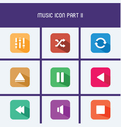 flat design music icon part iii vector image