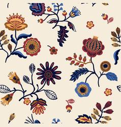 Folk floral seamless pattern vector