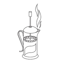 french press black and vector image