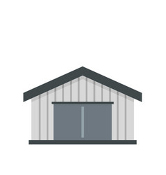 garage icon flat style vector image