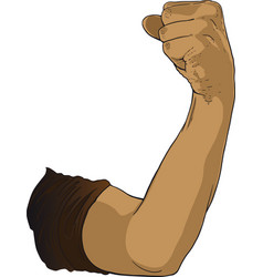 gesture raised fist vector image