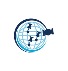 global online auction vector image