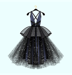 Gorgeous party dress vector