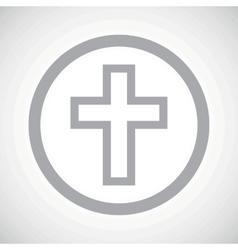 Grey christian cross sign icon vector image