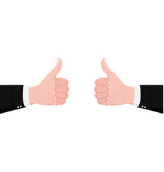 Hand symbol like thumbs up hands professional vector