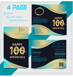 happy anniversary book design vector image