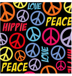 Hippie peace symbol background vector