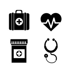 hospital medicine tools icon vector image