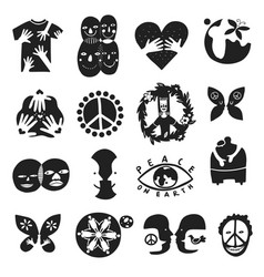 international friendship symbols vector image