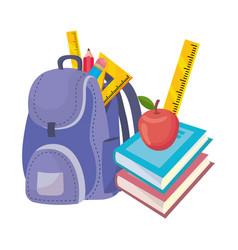 Isolated bag school design vector
