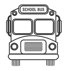 isolated school bus graphic vector image