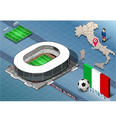 Isometric Stadium Olimpico Rome Italy vector image vector image