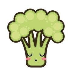 Kawaii cartoon broccoli vector