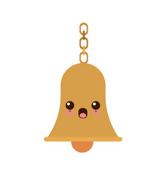 Kawaii school bells chain hang alarm icon vector
