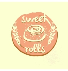 Logo template for confectionery bakery Sweet vector image
